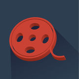Kinoikone - Filmreel lizenzfreie abbildung