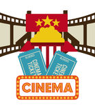 Kinoikonendesign Lizenzfreies Stockbild