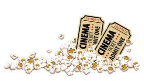 Kinokarten für Kinopopcornvektor Lizenzfreie Stockfotografie