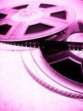 Kinokonzept - Filmbandspulen Stockfoto