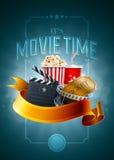Kinokonzeptplakat Stockfotos