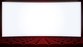 Kinoleinwand mit Rot setzt backgound (Aspekt Lizenzfreie Stockbilder