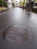 Kinosaki é cidade pequena para onsen (bastão morno público do estilo japonês Imagem de Stock Royalty Free