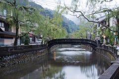 Kinosaki onsen staden Arkivbild