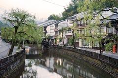 Kinosaki onsen staden Arkivfoto