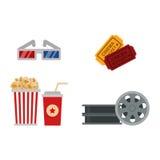 Kinosymbol-Vektorillustration Stockfotografie