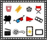 Kinotheaterkarikaturen Stockbild