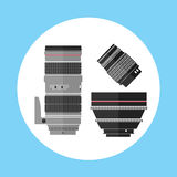 Kinowa Pro fotografii Cyfrowego obiektywu wyposażenia ikona Obraz Stock