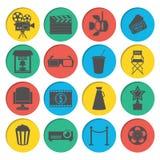 Kinowe ikony Ustawiać Zdjęcie Stock
