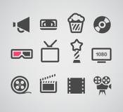 Kinowe sieci sylwetki inkasowe Zdjęcia Royalty Free