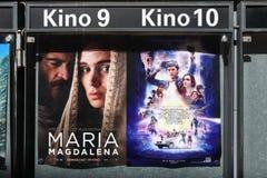 Kinowi filmów plakaty fotografia royalty free
