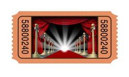 Kinowy Bilet Zdjęcie Royalty Free