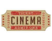 Kinowy Bilet Zdjęcie Stock