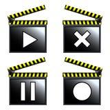 kinowy clapboard ikon film Obrazy Stock