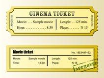 Kinowy filmu bilet Zdjęcie Royalty Free