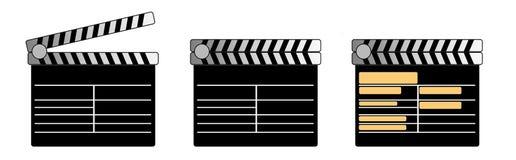 kinowy klaśnięcie Fotografia Stock