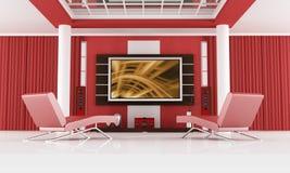 kinowy luksusowy pokój ilustracja wektor