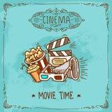 Kinowy plakatowy nakreślenie Obrazy Stock