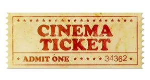 Kinowy rocznika bilet zdjęcie stock
