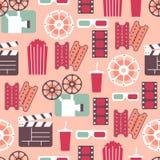 Kinowy Wektorowy Bezszwowy wzór Obrazy Stock