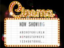 Kinozeichen Stockbild
