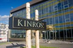 Kinross Gold Corporation办公室在马加丹 库存图片