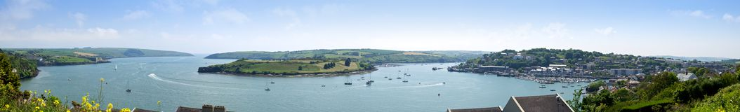Kinsale Harbor Panorama, Cork Stock Photography