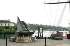 A nod to boating enthusiasts. Kinsale is a popular holiday resort for Irish and overseas travelers. It has yachting, sea angling, and golf along with art stock photo