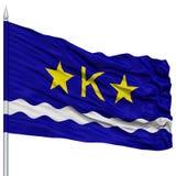 Kinshasa City Flag on Flagpole Stock Images