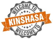 Kinshasa round ribbon seal Royalty Free Stock Photography