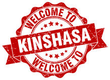 Kinshasa round ribbon seal Stock Photos