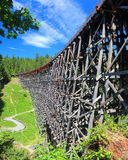 Kinsol Trestle, Shawnigan Lake, Vancouver Island. The imposing 1913 Kinsol Trestle over the Koksilah River on Southern Vancouver Island is one of the highest Royalty Free Stock Images