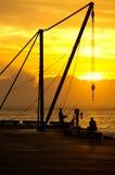 Kinston码头,诺福克岛 免版税库存照片
