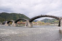 Kintai Bridge in Iwakuni, Yamaguchi Prefecture, Japan Stock Photo