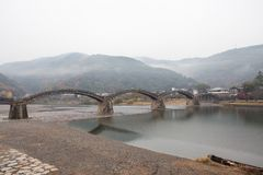 Kintai Bridge Kintai-kyo, the most distinguished landmark of I Stock Photography