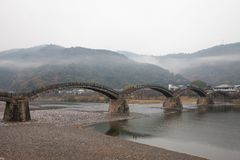 Kintai Bridge Kintai-kyo, the most distinguished landmark of I Royalty Free Stock Photography