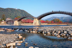 Kintai bro i Iwakuni, Japan Royaltyfria Bilder