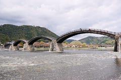 Kintaibrug in Iwakuni, Yamaguchi-Prefectuur, Japan stock foto