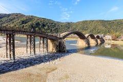 Kintaikyo Bridge in Iwakuni, Hiroshima,. Japan Stock Image