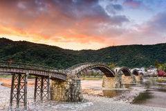 Kintaikyo Bridge of Iwakuni, Japan Royalty Free Stock Photography
