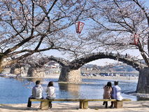 Kintaikyo, die historische hölzerne Bogenbrücke in Japan Lizenzfreie Stockfotografie