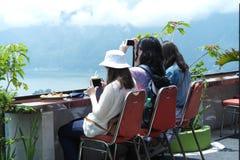 Kintamani登上的Batur餐馆 免版税库存图片
