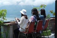 Kintamani登上的Batur餐馆 库存图片