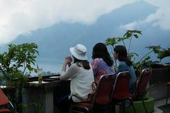 Kintamani登上的Batur餐馆 免版税库存照片