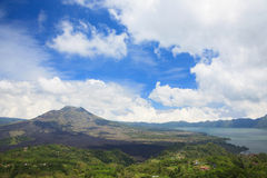 Kintamani Bali. Batur volcano and lake landscape from Kintamani crater Bali Indonesia Stock Photography