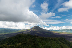 Kintamani Bali. Volcano Mount Batur landscape at Kintamani Bali Indonesia Stock Photos