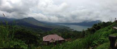 Kintamani Volacano en zet Batur Bali op Stock Fotografie