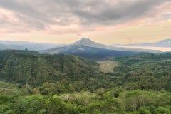 Kintamani Volcano in Bali Indonesia Stock Photography