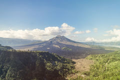 Kintamani volcano on Bali island. Landscape with Kintamani volcano on Bali island royalty free stock photography