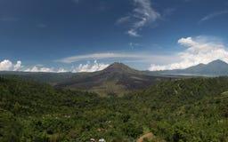 Kintamani Volcano. Stitched Panorama of Kintamani in Bali Stock Photo